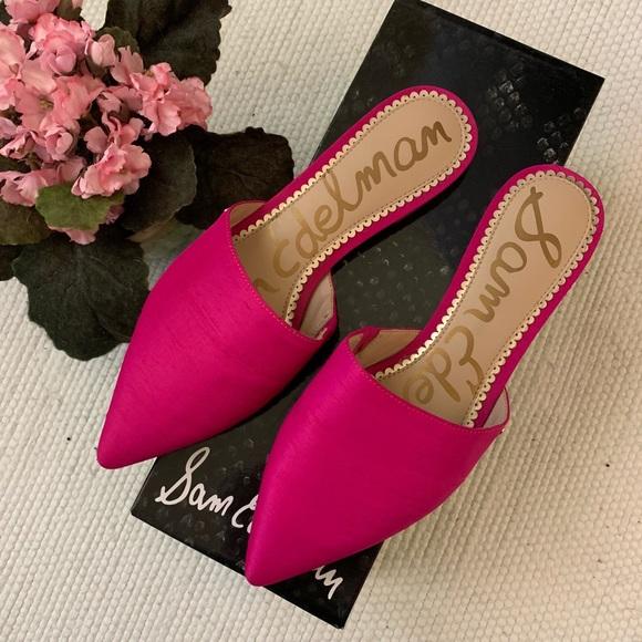 Sale Sam Edelman Hot Pink Mules | Poshmark